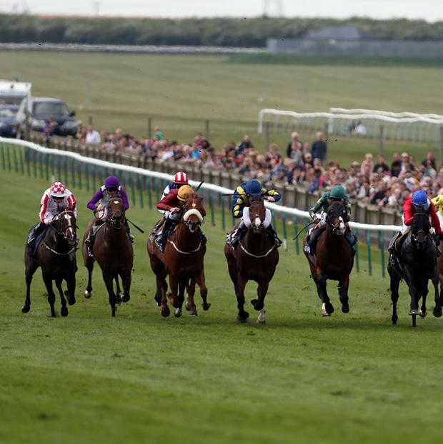 Sole Power, left, landed the Pearl Bloostock Palace House stakes at Newmarket