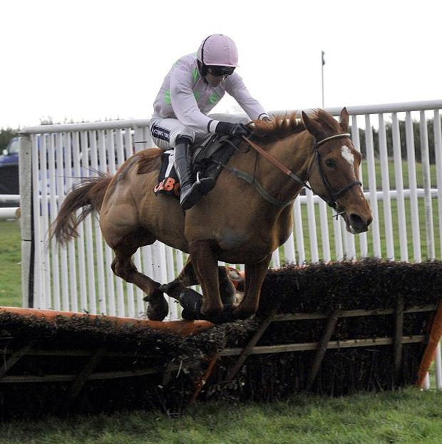 Annie Power eased home in the Irish Stallion Farms EBF Mares Champion Hurdle by seven lengths