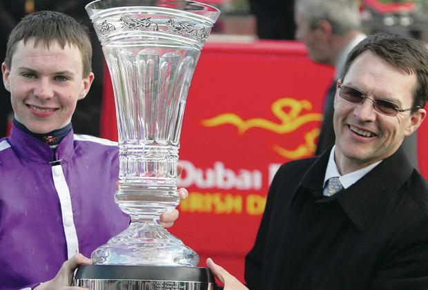 Prize guys: Father and son Aidan and Joseph O'Brien go for glory with Derby favourite Australia