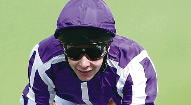 Smiles better: Joseph O'Brien permits himself a smile after winning the Derby at Epsom on board Australia