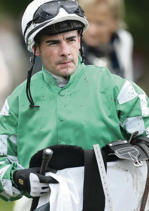 Back on track: Fergal Lynch returned to riding in the UK after a six-year absence when he raced at Ayr yesterday