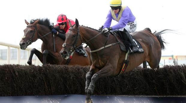 Out in front: Alelchi Inois, with Paul Townend on board, won the big race at Galway last night