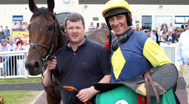 Bizarre ban: Davy Russell received a 5-day ban for borrowing a whip during a race