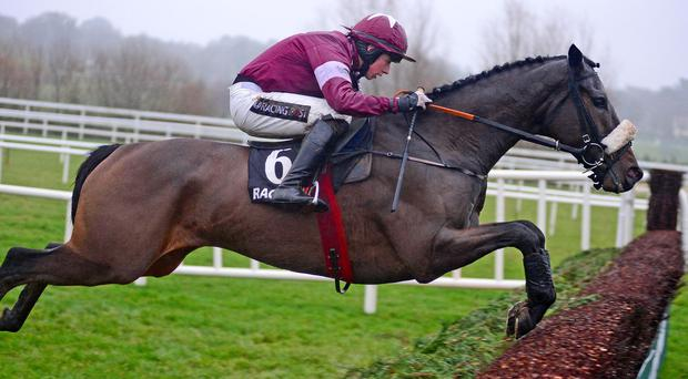Bryan Cooper clears the last fence in front on Clarcam