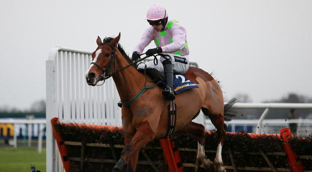 Faugheen has the race sewn up at the last under Ruby Walsh