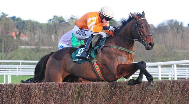 Twinlight puts in a fine leap in the hands of Paul Townend