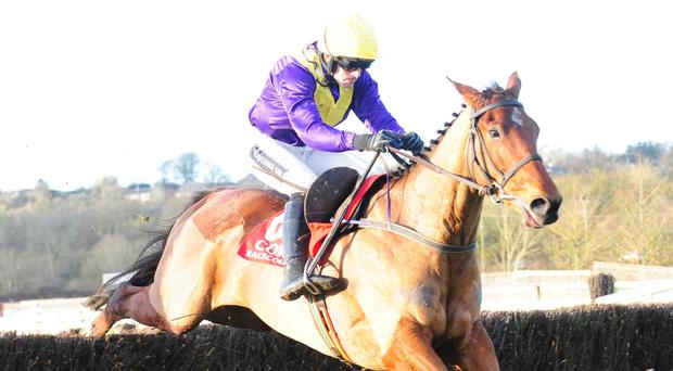 Urano and Ruby Walsh on their way to victory