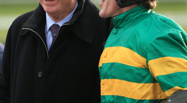 Word to the wise: Tony McCoy chats with Manchester United legend Sir Alex Ferguson yesterday at Doncaster races
