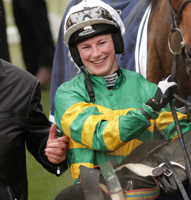 Nina Carberry will bid to become the first woman to win the Grand National this weekend