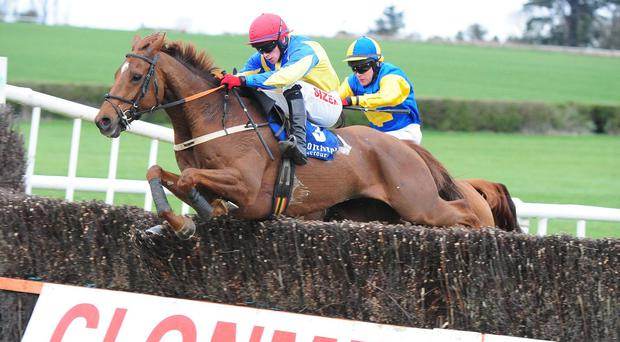 Johnny Burke picks up the winning ride on Deano at Clonmel