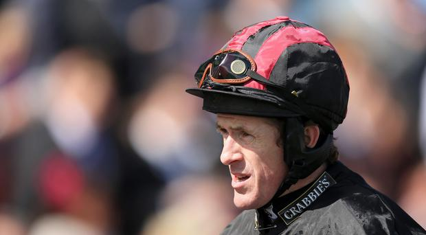 Jockey Tony McCoy came up short in his bid to win the Crabbies Grand National on Saturday