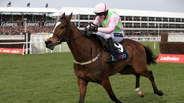 Vautour on his way to winning at the Cheltenham Festival