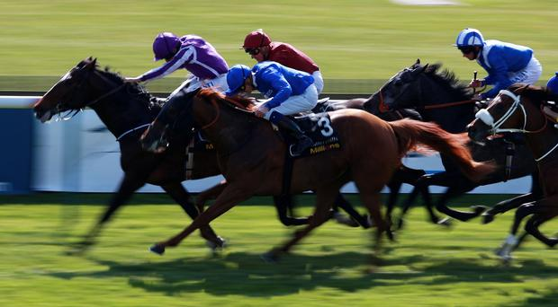Cape Clear Island (left) scores at Newmarket