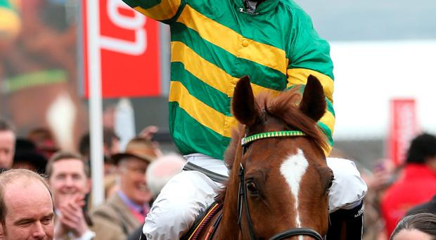 McCoy will be crowned champion jockey for an incredible 20th successive time tomorrow, with Arsenal legend Ian Wright making a special presentation to the Gunners fan