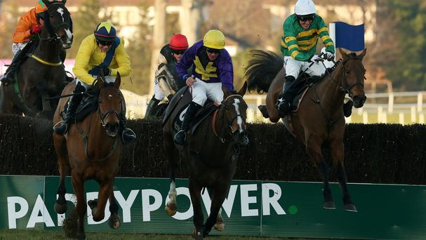 Action from this year's Hennessy Gold Cup
