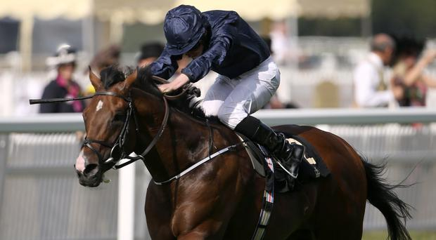 War Envoy ridden by Ryan Moore wins the Britannia Stakes