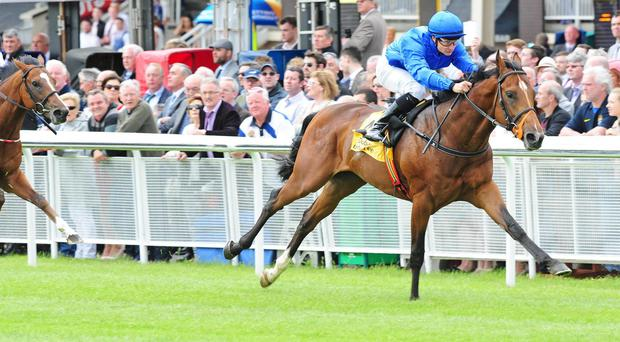 Final Frontier wins the opener on Irish Derby day at the Curragh