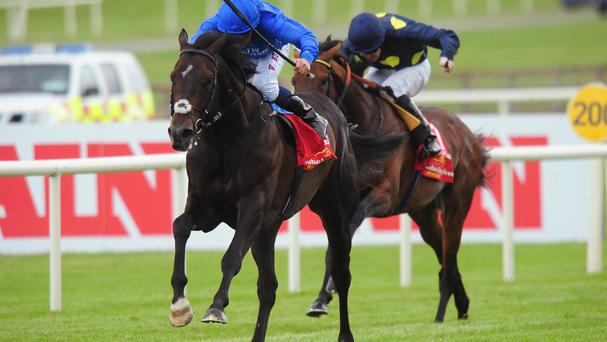 Jack Hobbs and William Buick win the 150th Dubai Duty Free Irish Derby