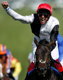 Festival fever: Frankie Dettori, celebrating Derby glory on Golden Horn, is in top form ahead of Newmarket's July Festival