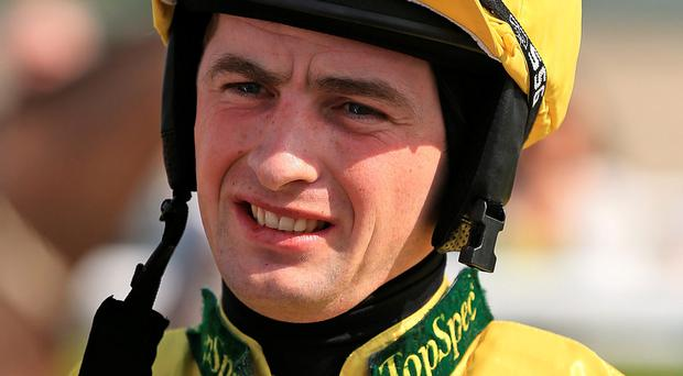 Back in saddle: Brian Toomey at Southwell yesterday