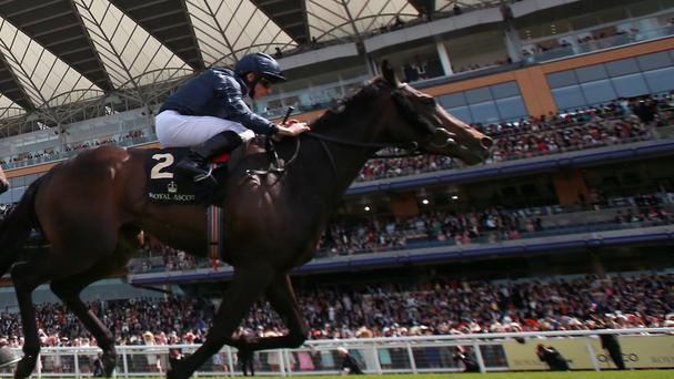 Curvy winning the Ribblesdale Stakes at Royal Ascot