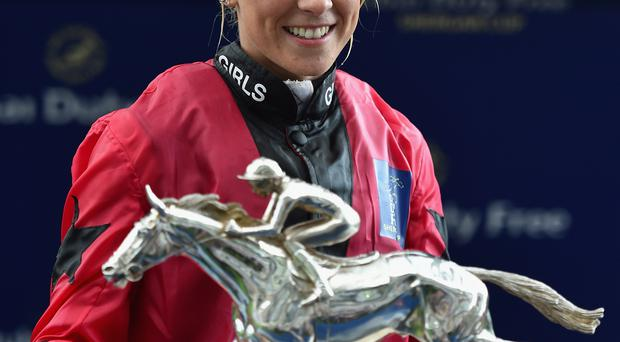 Rising star: Ulster jockey Sammy Jo Bell enjoying Shergar Cup success at Ascot