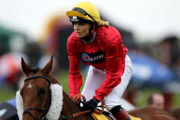 Promising start: Victoria Pendleton and Royal Etiquette on way to second place last month at Ripon