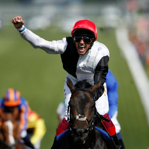 Frankie Dettori rides Wings Of Desire in the Derby, Architecture in the Oaks and Foundation in the French Classic