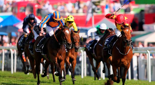 Out in front: Qualify races to victory in last year's Oaks at Epsom