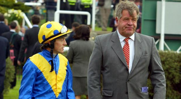 Kieren Fallon (left) and Sir Michael Stoute