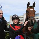 Adrian Keatley (left) with Jet Setting