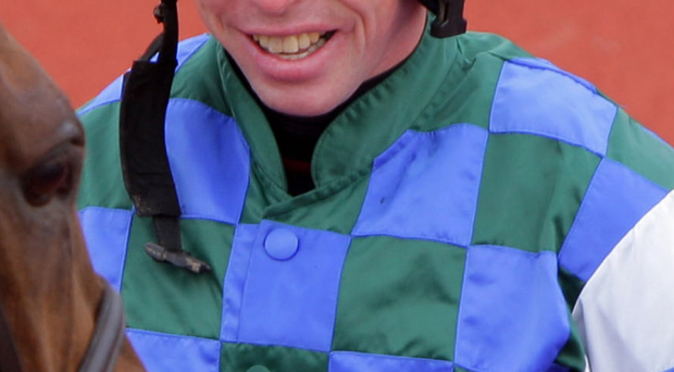 Maze hope: Andrew Lynch, the regular jockey of Fine Rightly