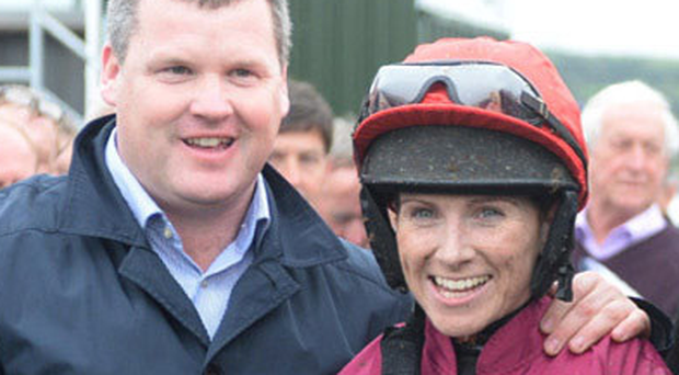 Kerry winners: jockey Lisa O'Neill (right) and trainer Gordon Elliott