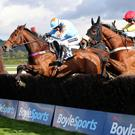 Fox Norton (near side) wins the BoyleSports Champion Chase