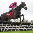 Champagne Classic leads over the last at Punchestown