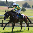 In front: A Year To Remember, with Jody McGarvey aboard, on the way to victory at Downpatrick