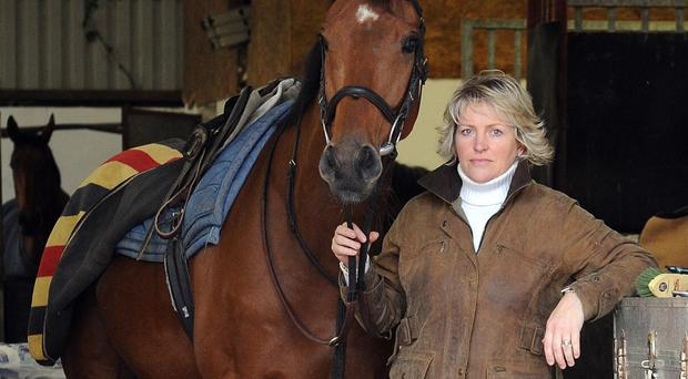 First lady: Banbridge trainer Sarah Dawson is targeting success at the Down Royal Festival this weekend