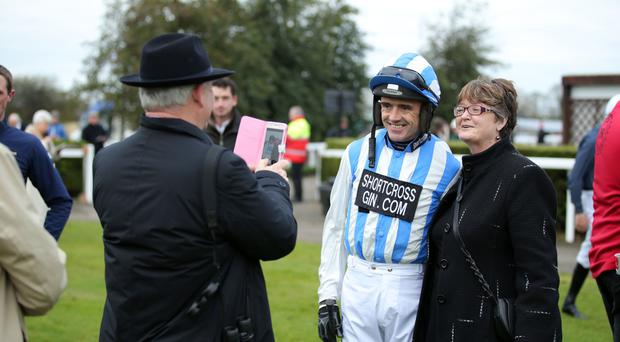 Photo finish: star jockey Ruby Walsh, winner of the Down Royal feature on Melon, takes time out for a photograph yesterday