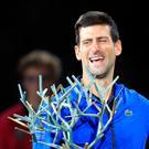 Prize guy: Novak Djokovic shows off Paris Masters title