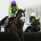 Off target: Tony McCoy on board Kauto Star in the King George at Kempton, the pair eventually finishing third behind winner Long Run
