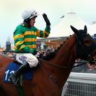 Farewell: Tony McCoy waves goodbye to Cheltenham