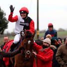 New job: Double Olympic cycling champion Victoria Pendleton salutes the crowd after victory on Pacha Du Polder yesterday at Wincanton