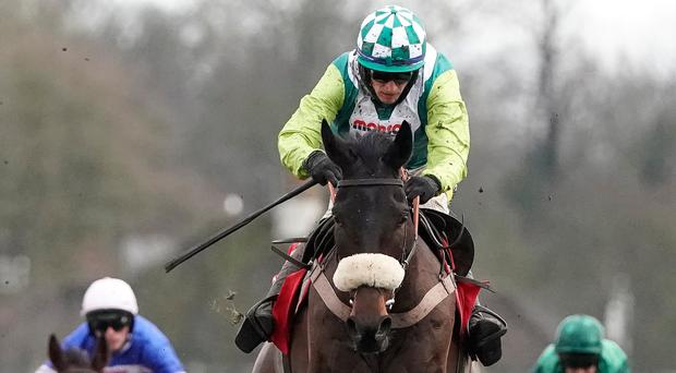 Clan on a mission: jockey Sam Twiston-Davies rides Clan Des Obeaux to Kempton victory