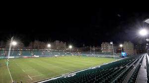 A general view of the stands before the Bath and Harlequins match at the Heineken Champions Cup, pool three match at the Recreation Ground, Bath.
