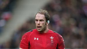 Alun Wyn Jones, pictured, has been tipped to dominate Ireland in Sunday's RBS 6 Nations opener in the absence of the retired Paul O'Connell
