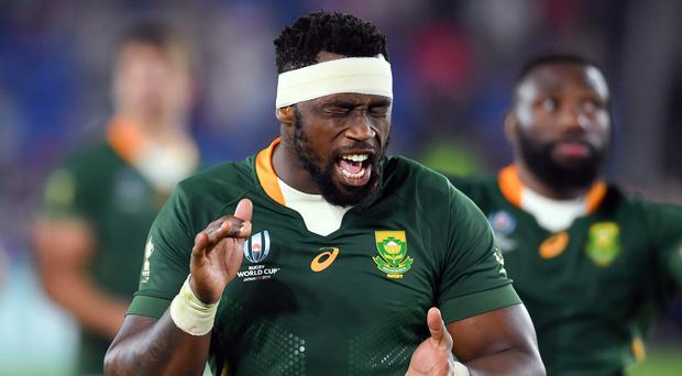 South Africa captain Siya Kolisi cannot imagine the size of celebrations back home if the Springboks win the Rugby World Cup (Ashley Western/PA)