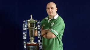 Keith Wood led Ireland in the rearranged 2001 fixture against England (David Davies/PA)