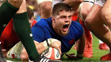 France's Paul Willemse scores against Wales (Adam Davy/PA)