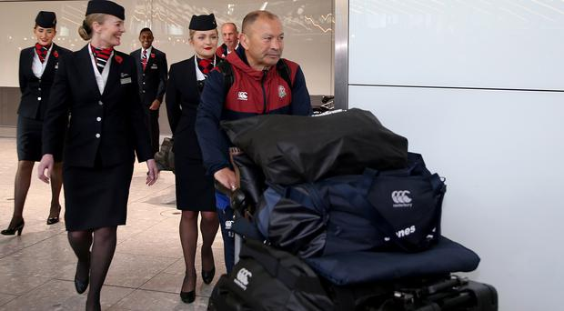 Eddie Jones and the England team are back in the country (Steven Paston/PA)