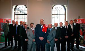 Lions' pride: The Lions Legends XV ahead of the 2009 tour (from left) Mervyn Davies,Fran Cotton, Fergus Slattery, Keith Woods, Graham Price, Phil Bennett, Gerald Davies, Willie John McBride, Gareth Edwards, JJ Williams, Mike Gibson, JPR Williams, Richard Hill and Martin Johnson